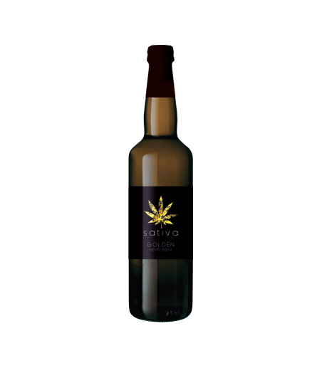 SATIVA GOLDEN HEMP BEER 75 cl